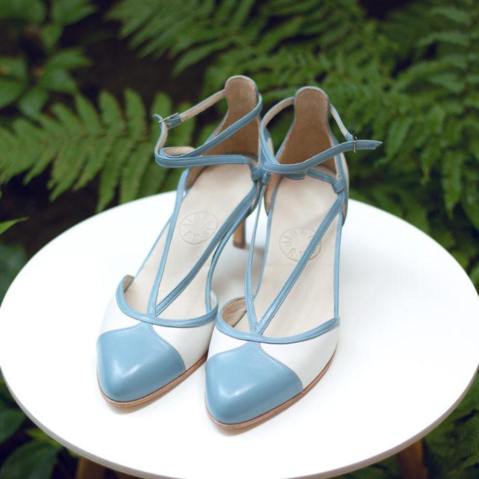 Szpilki Lunaria niebieskie